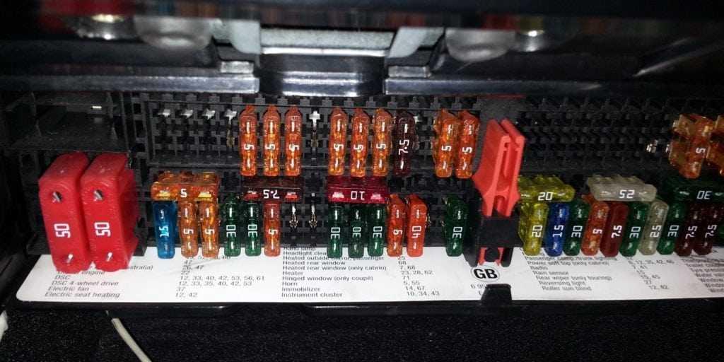 Предохранители bmw f01/02 и блоки реле с описанием назначения. Элекросхема. Предохранитель прикуривателя.