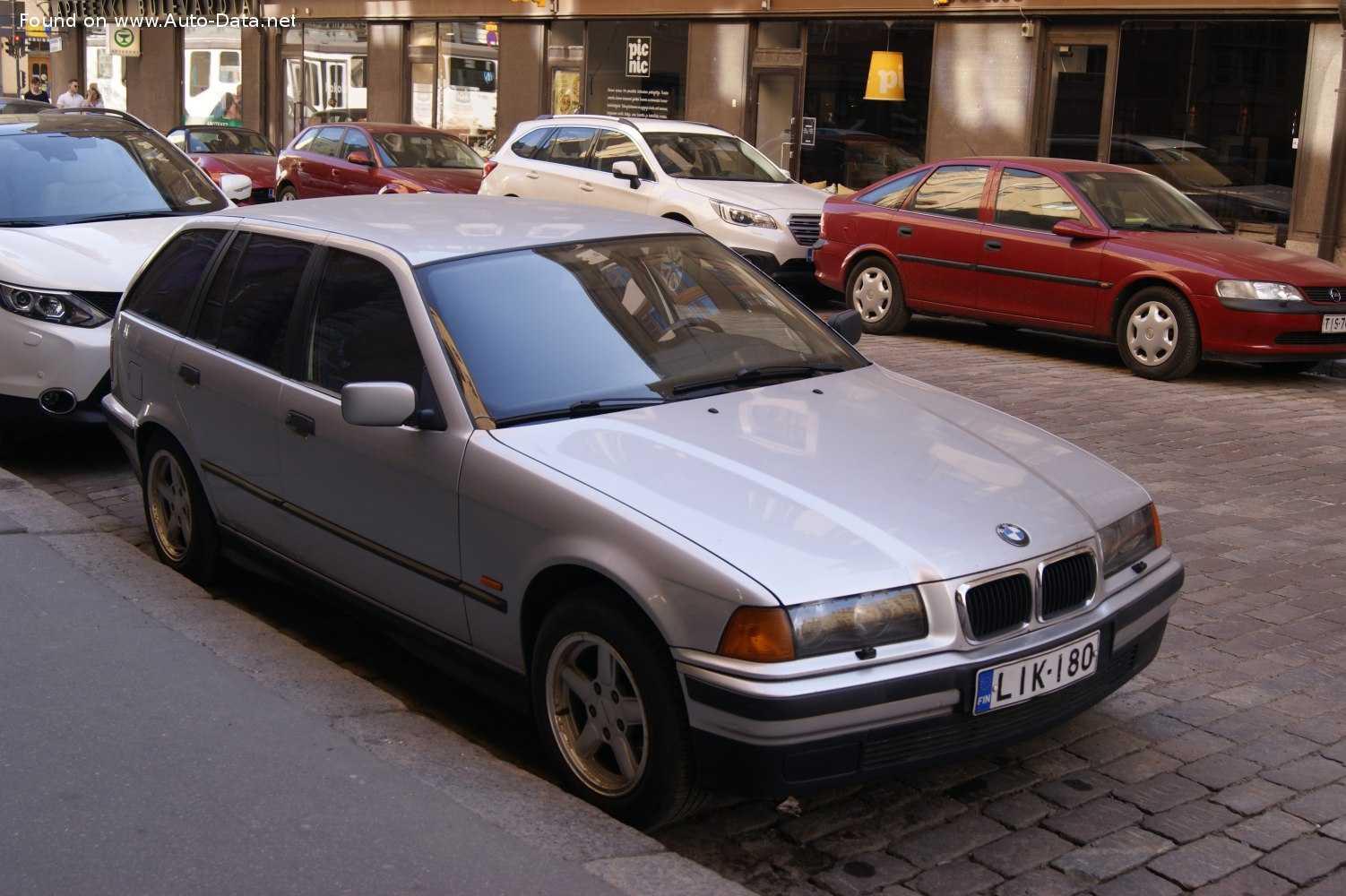 1993 BMW 3 Серии Touring (E36) 325 tds (143 лс)   Технические характеристики, расход топлива , Габариты