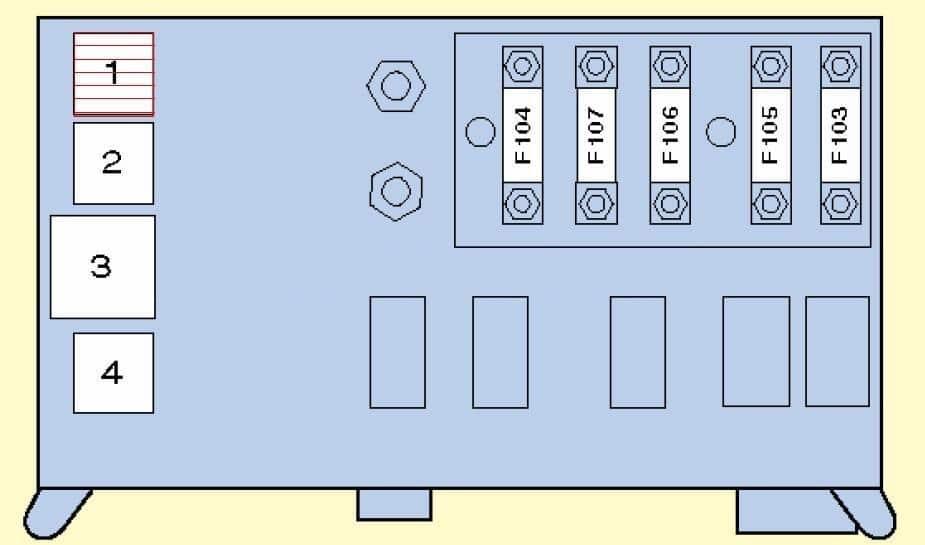 Предохранители БМВ Х5 е70, 2006 - 2013