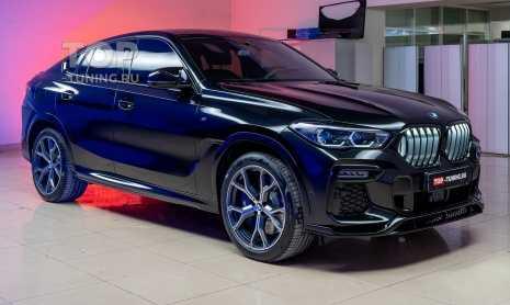 Оклейка пленкой BMW X6, защита салона и черная решетка Iconic Glow