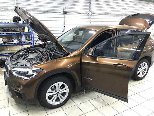 Установка доводчика багажника на BMW X1 F48