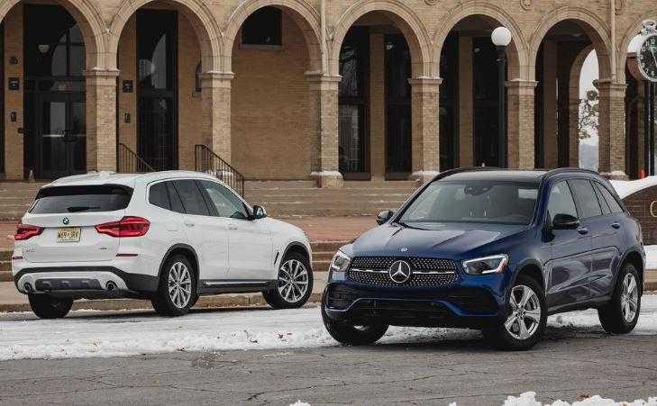 Сравнить BMW X3 xDrive 30i,Mercedes-Benz GLB 250 4MATIC Progressive и Mercedes-Benz GLC 300d 4MATIC Sport. Комплектации и характеристики на Драйве