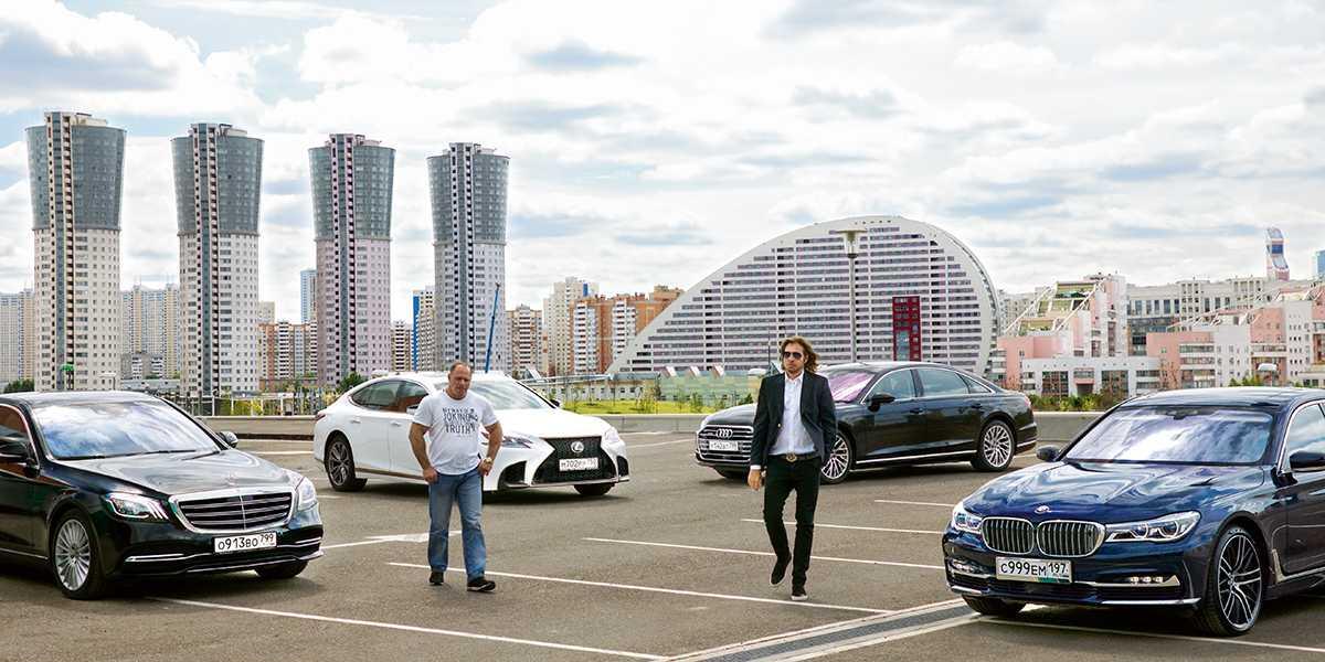 """Самые большие """"немцы"""" - обзор Mercedes GLS, BMW X7, Audi Q8 - AUTOPEOPLE"""